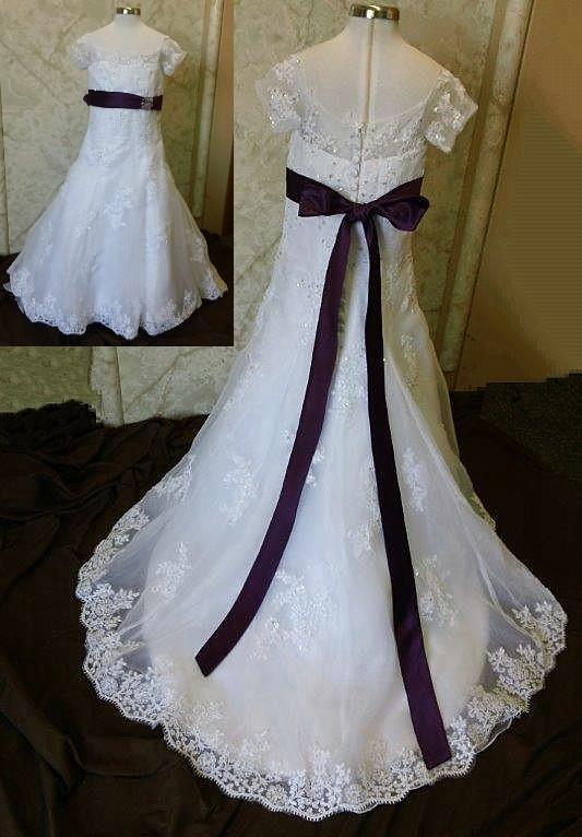Purple Flower Wedding Gown Flowers Healthy